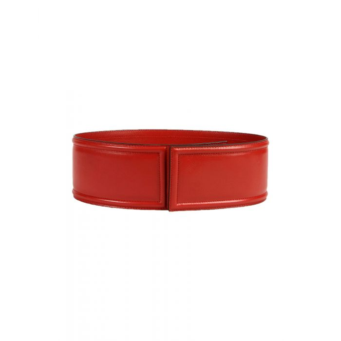 Image for Red leather belt