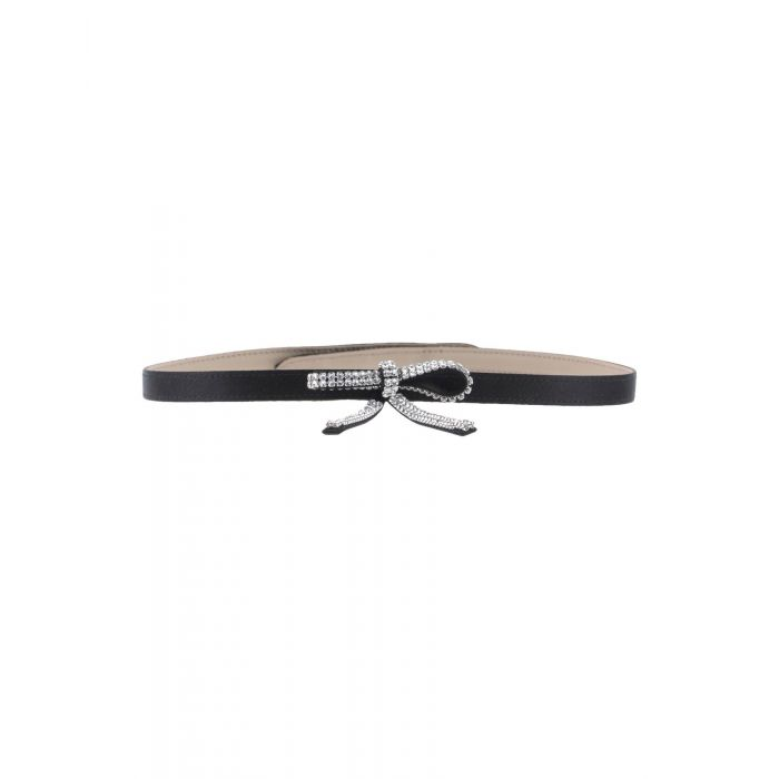 Image for Black pink viscose belt