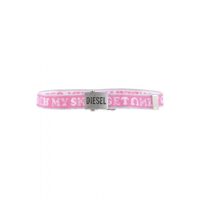 Image for Black and pink natural fibre belt