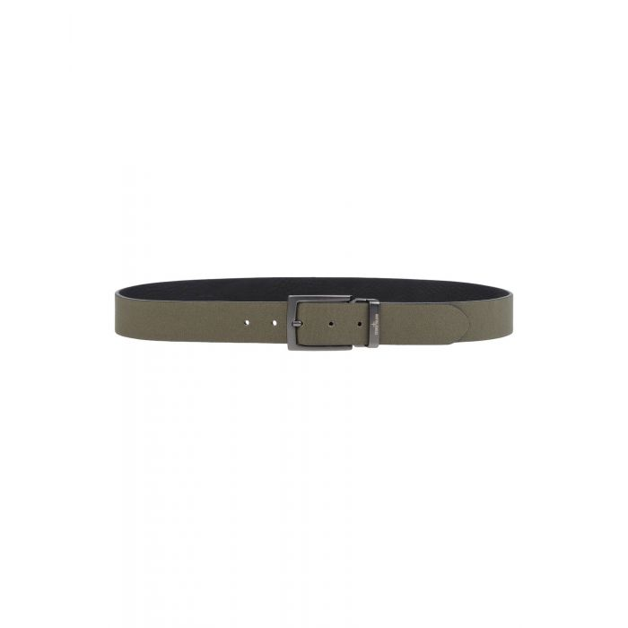 Image for Military green cotton and leather belt