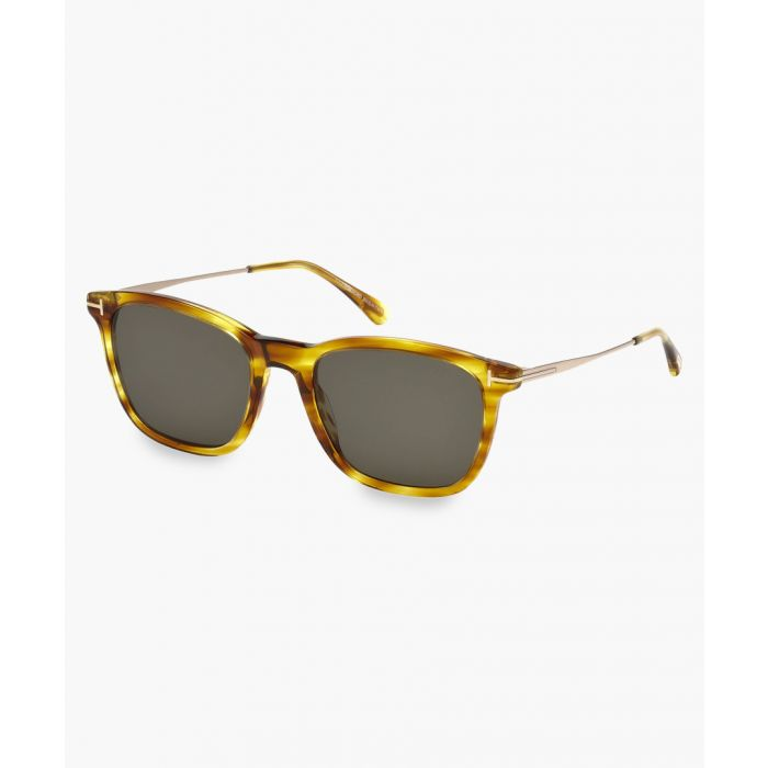 Image for Light Havana D-frame sunglasses