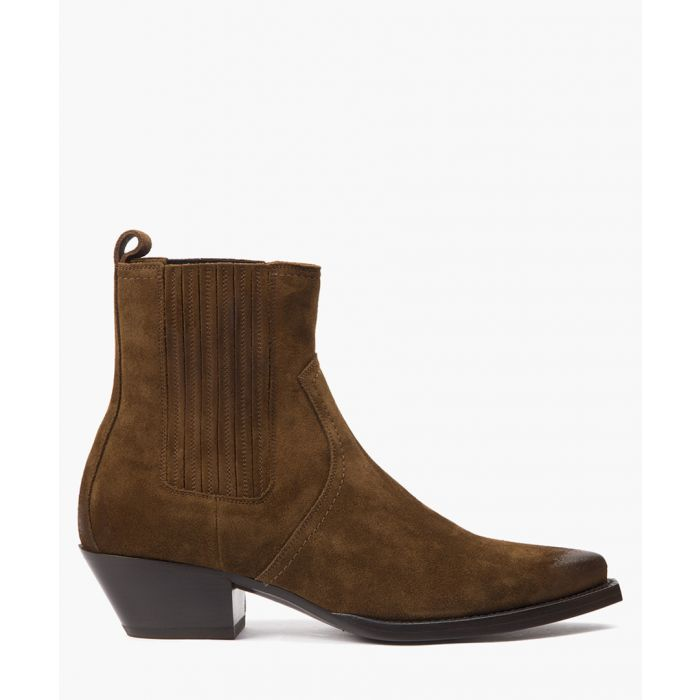 Image for Lukas brown suede ankle boots