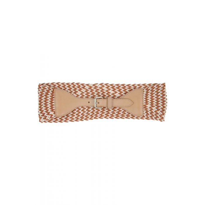 Image for Black and brown natural fibre belt