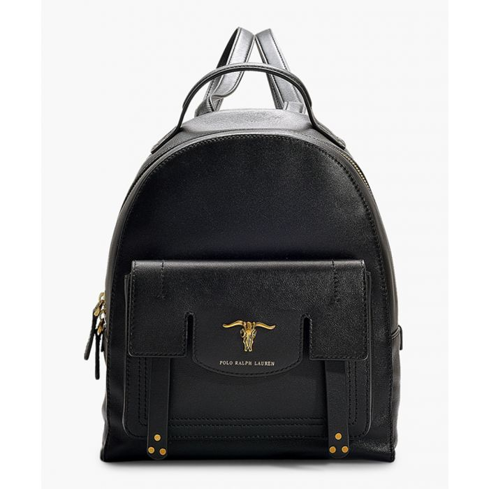 Image for Montana black leather backpack