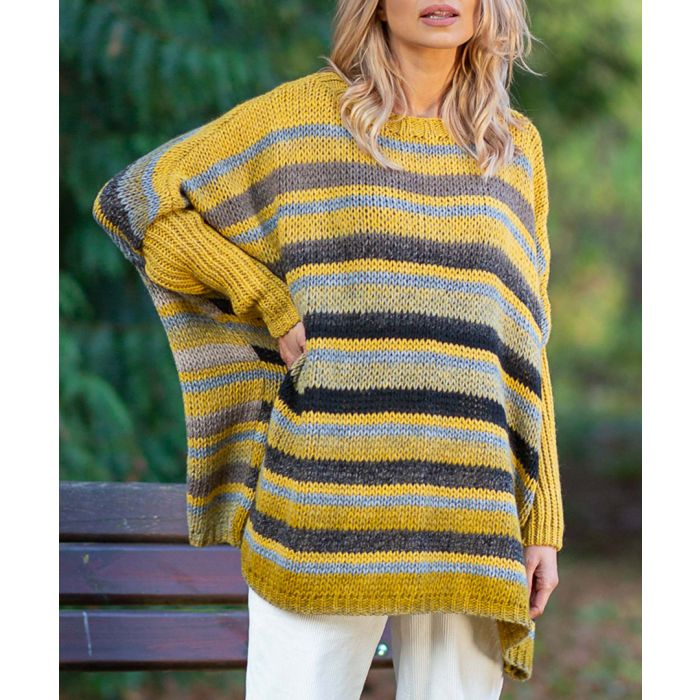 Image for Ceylon yellow knitted alpaca and wool blend sweater
