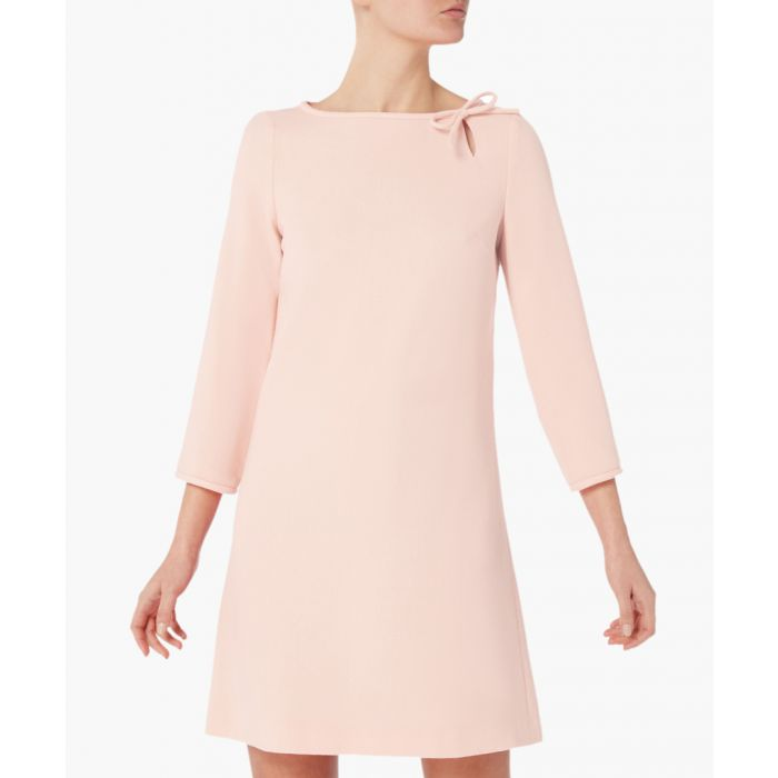 Image for Honey blush pure wool crepe mini dress