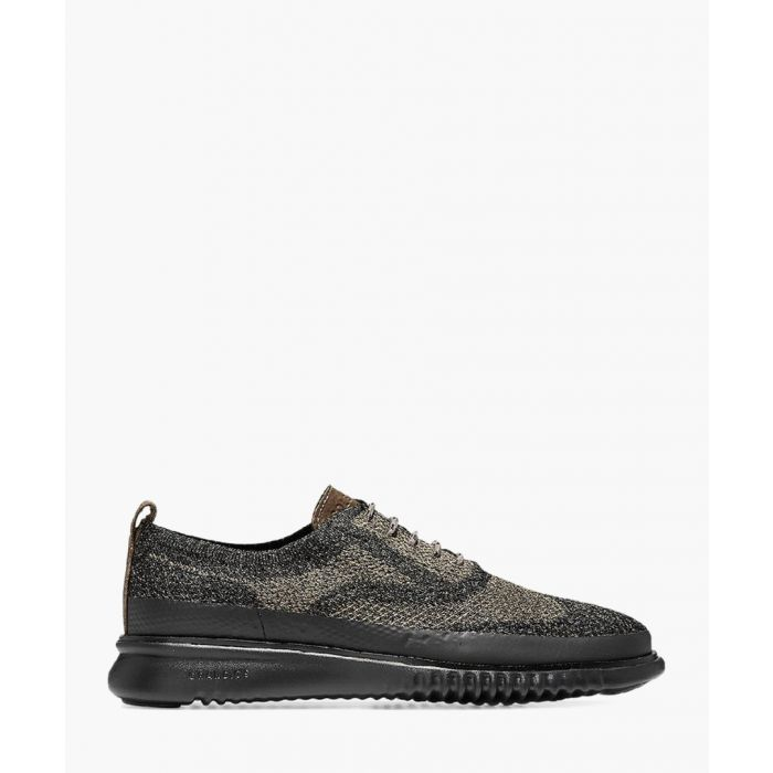 Image for Mens green knit Oxford shoes