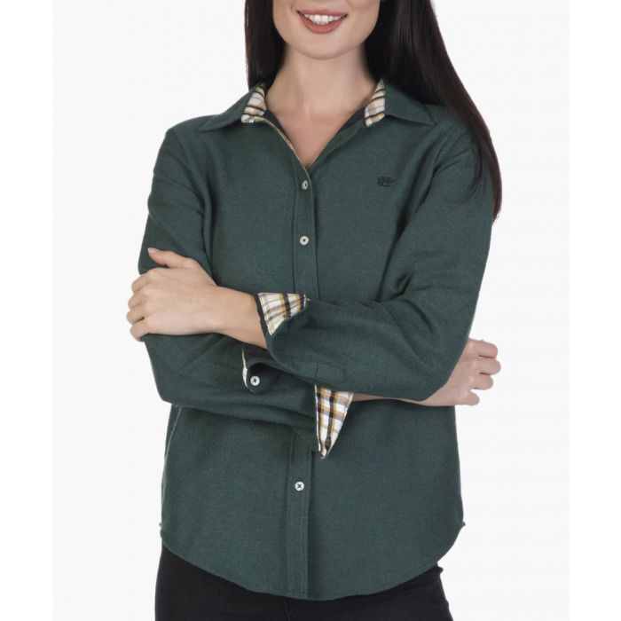 Image for Green cotton shirt