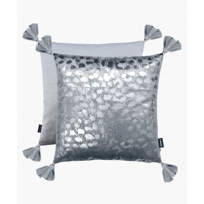Image for Sahara grey and silver cushion 43cm