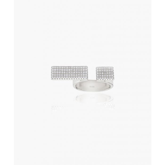 Image for Bacoli Due white zirconia ring