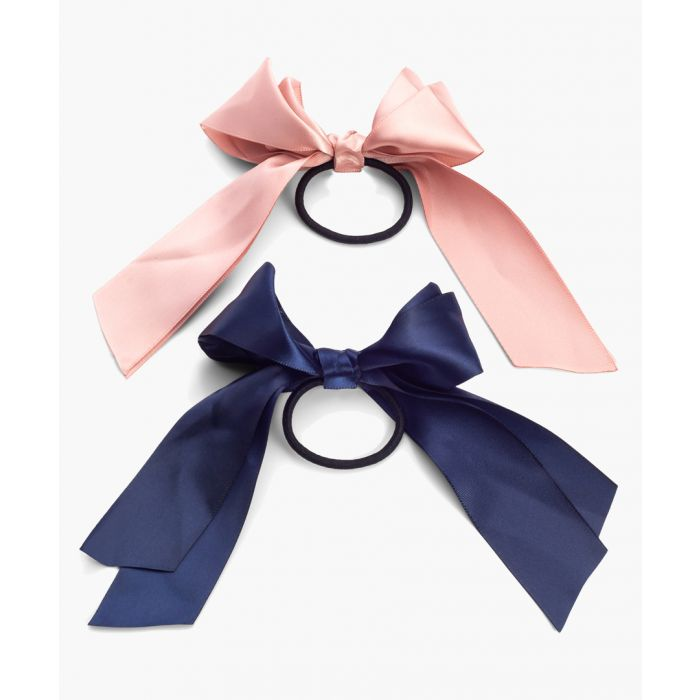 Image for 2pc Silky Ribbon hair elastic set