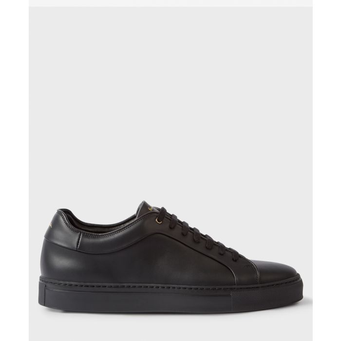 Image for Black leather sneakers