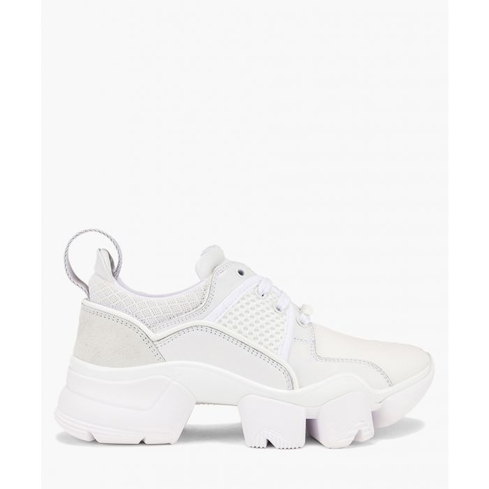 Image for Jaw white leather low-top trainers