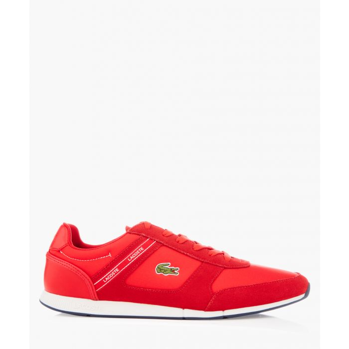 Image for Menerva red textile & suede sneakers