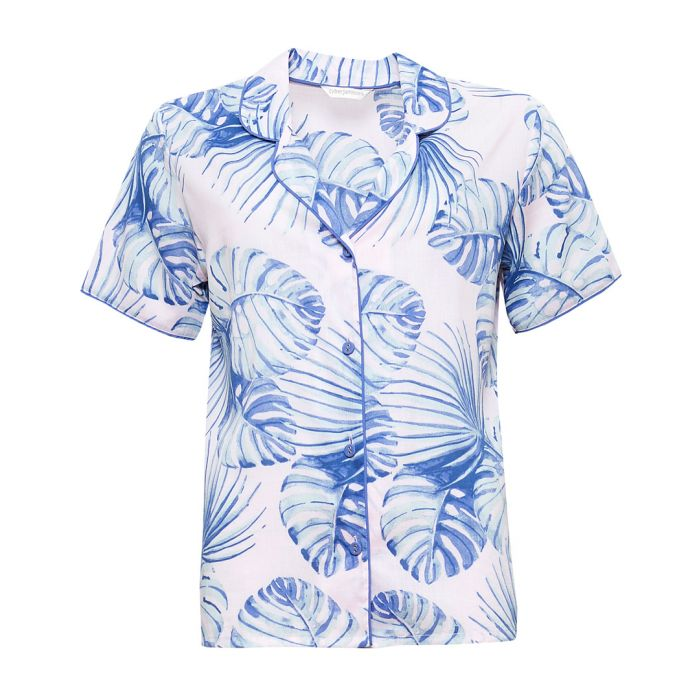 Image for Isla palm leaf printed pyjama top