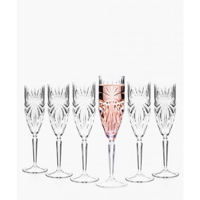 Image for 6pc Oasis Crystal champagne flutes glasses 160ml