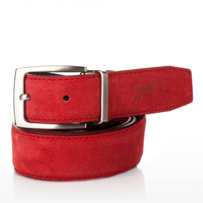 Image for Mens red leather belt