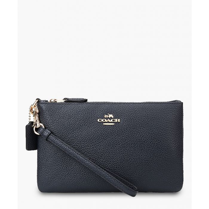 Image for Black pebble leather clutch
