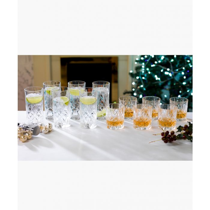 Image for 12pc MelodiaLuxion Crystal tumbler & hi-ball glasses set
