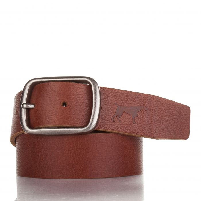 Image for Mens brown leather belt