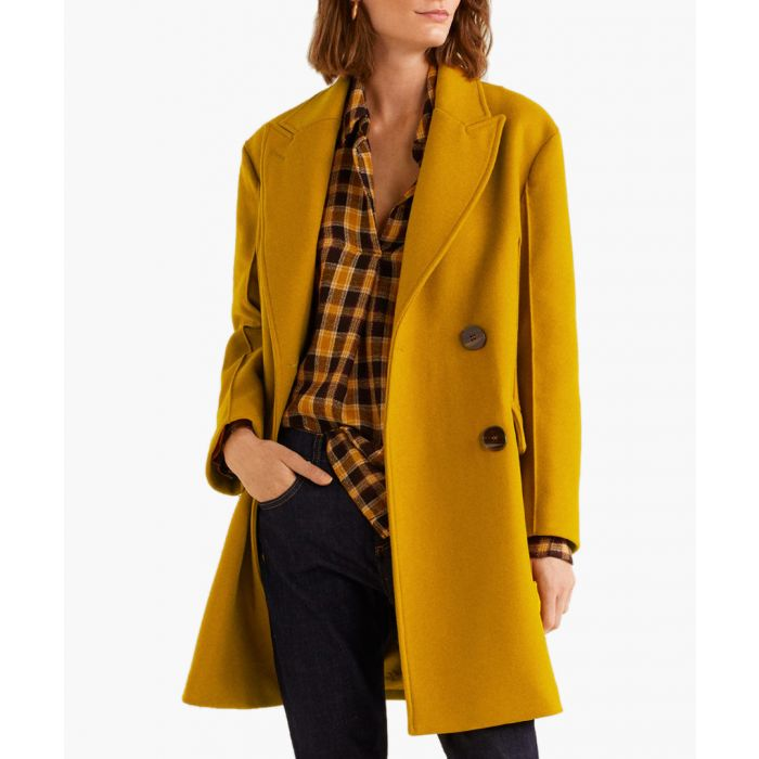 Image for Mustard virgin wool coat