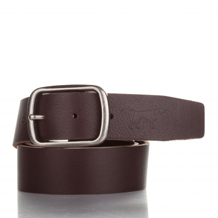 Image for Mens mocha leather belt