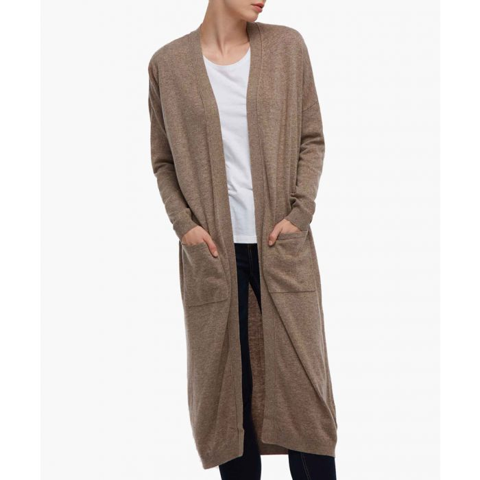 Image for Brown knit jacket