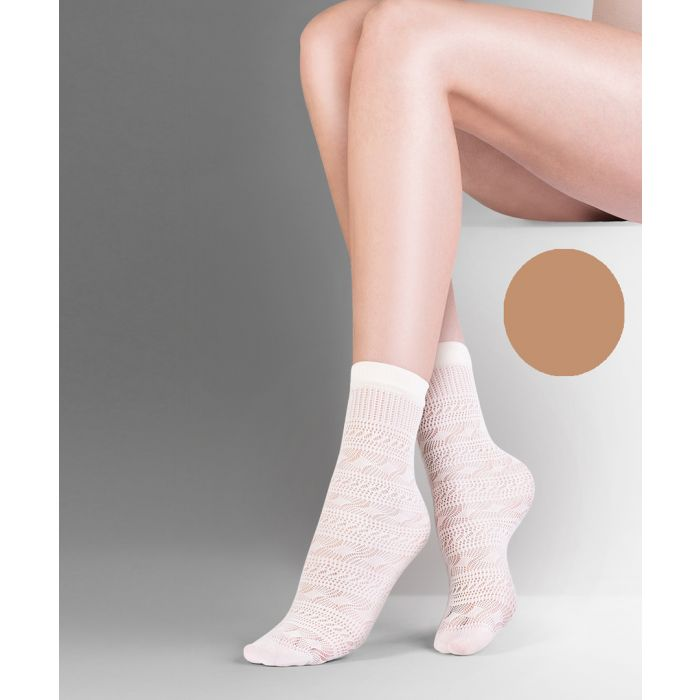 Image for Sol beige ankle socks 20 denier