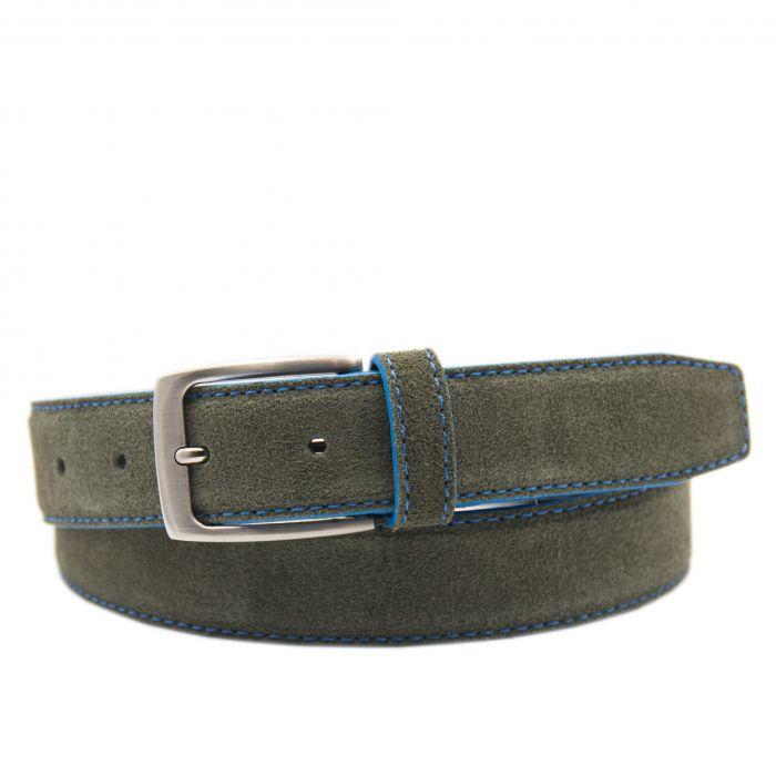 Image for Mens green leather belt