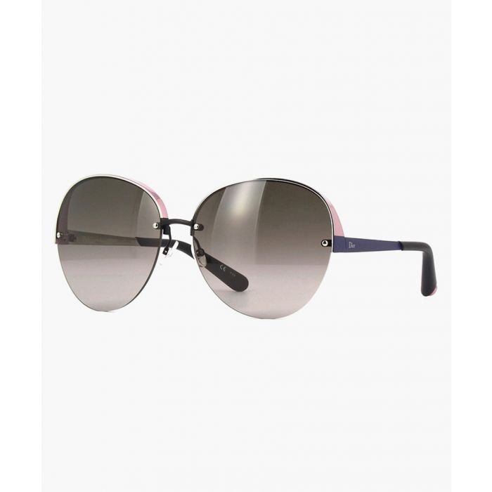 Image for Pink and matte blue oversized sunglasses