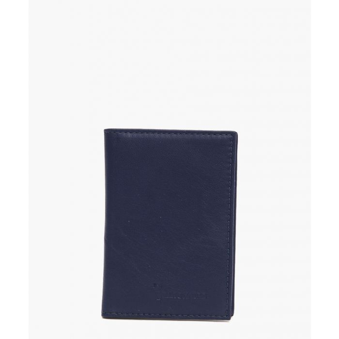 Image for Navy embossed logo wallet
