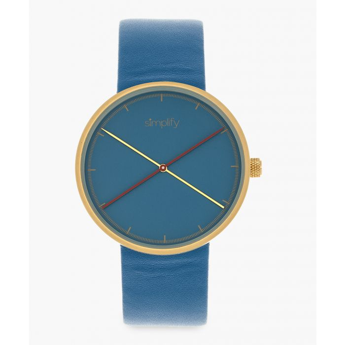 Image for The 4100 blue genuine leather watch