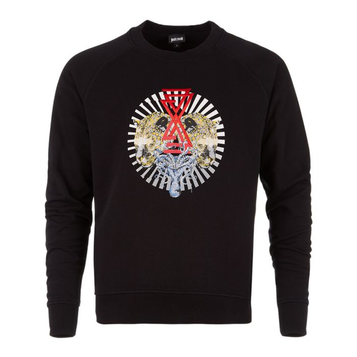Image for Black cotton graphic print sweatshirt