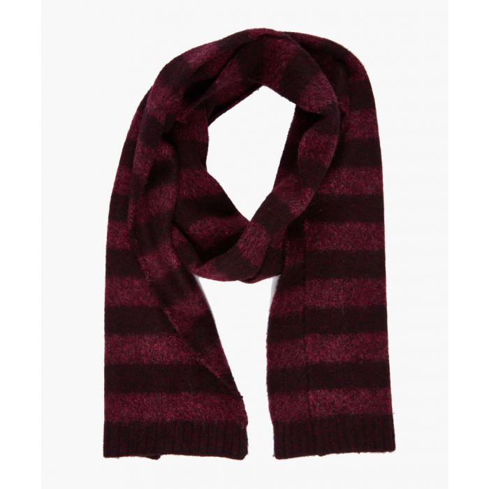 Image for Burgundy pure wool scarf