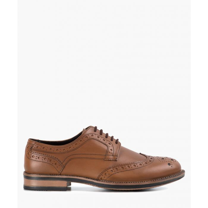 Image for Johnson tan leather heavy Derby brogues