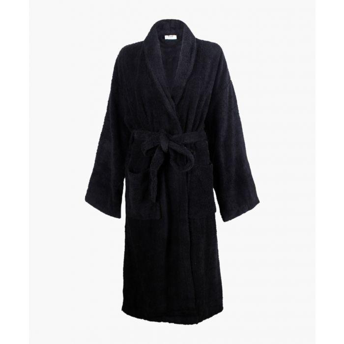 Image for Black Egyptian cotton bath robe