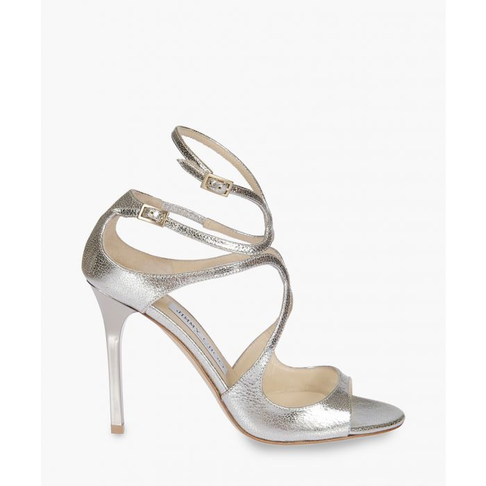 Image for Lang 100 silver-tone leather sandals