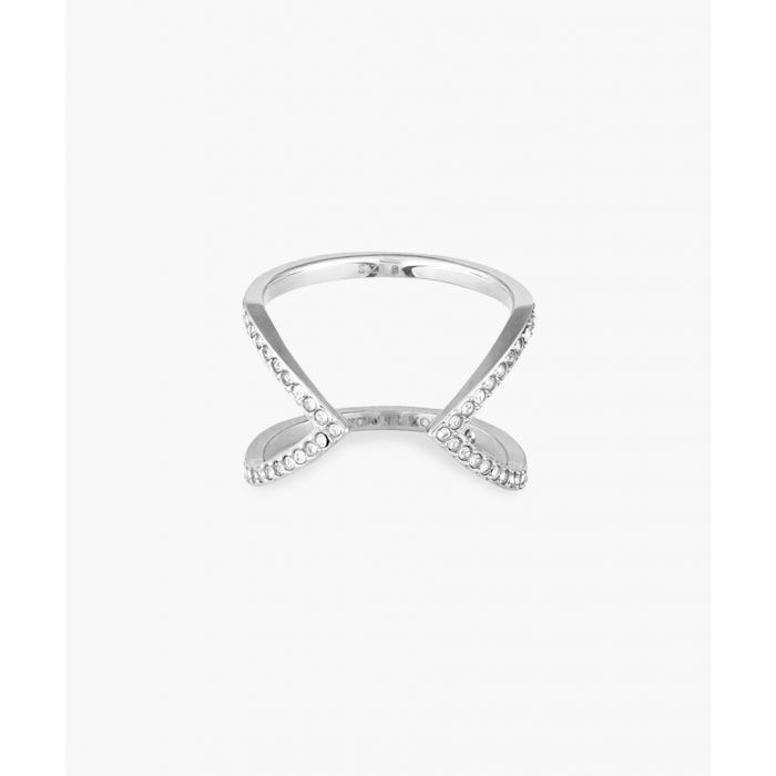 Image for Silver-plated stainless steel and cubic zircona ring
