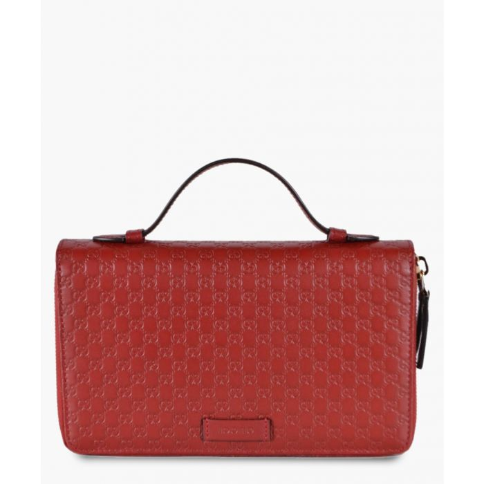 Image for Red leather travel wallet