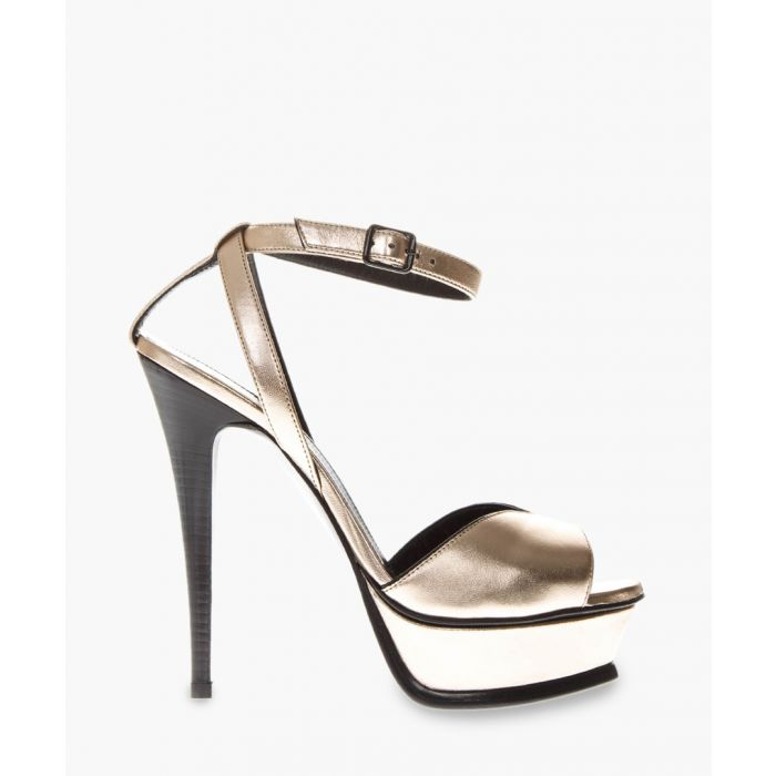 Image for Tribute metallic leather sandals