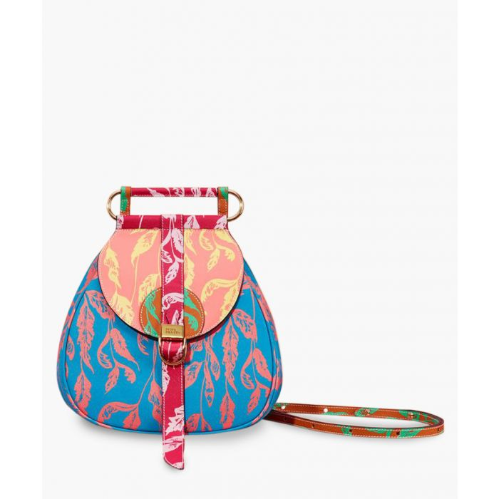 Image for Multi-coloured leather backpack