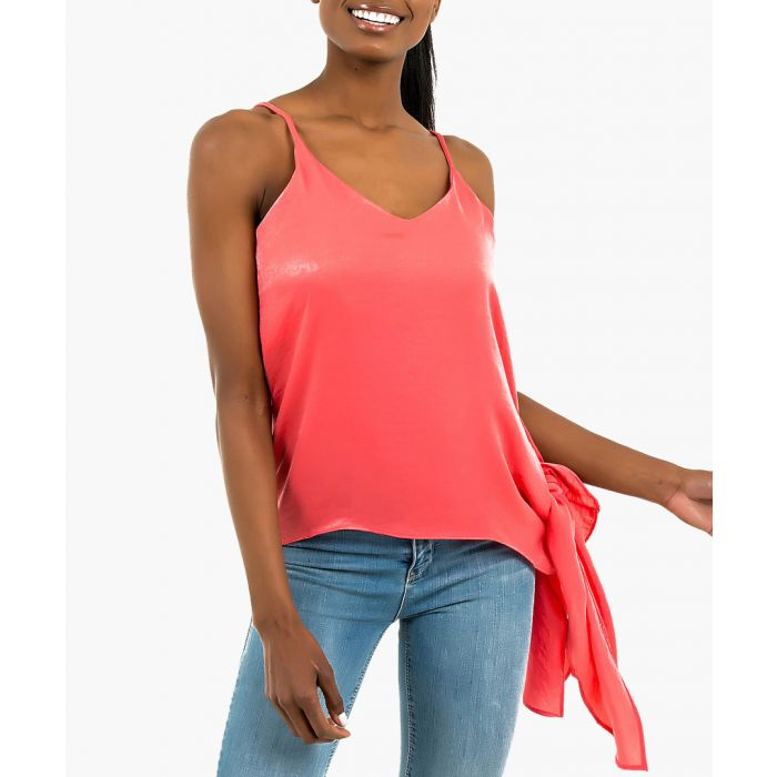 Image for Coral tie-side strap cami top