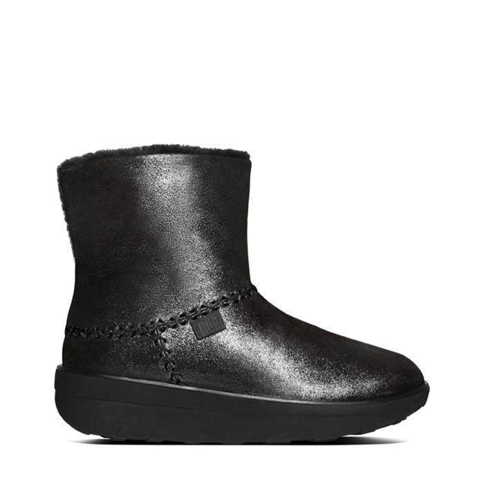 Image for Mukluk black suede shimmer boots