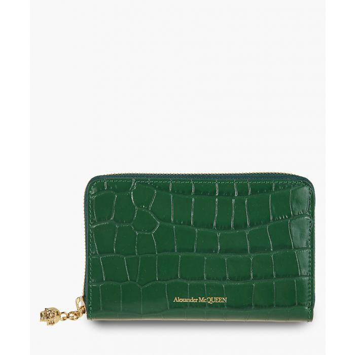 Image for Green moc-croc wallet