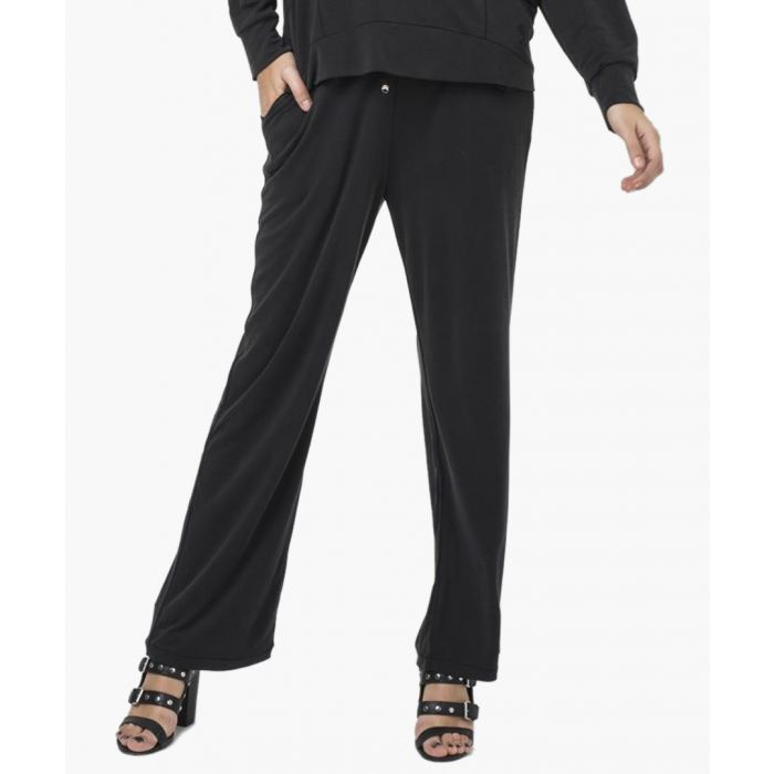 Image for Jet black tendency trousers