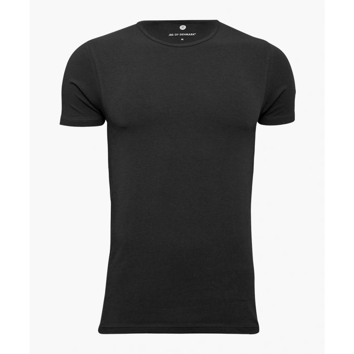 Image for Stretch-organic cotton blend round neck T-shirt