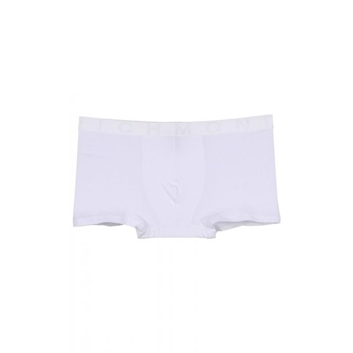 Image for White cotton blend low-rise boxers