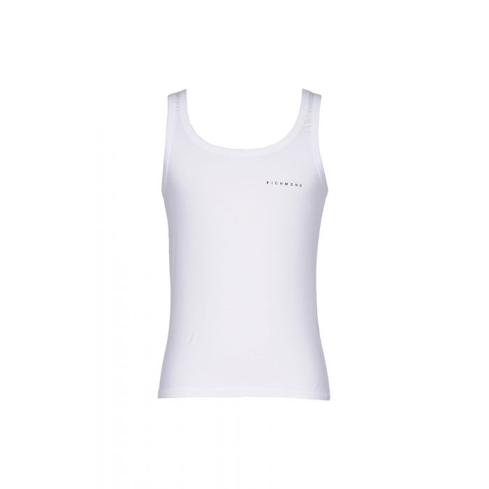 Image for White cotton tank