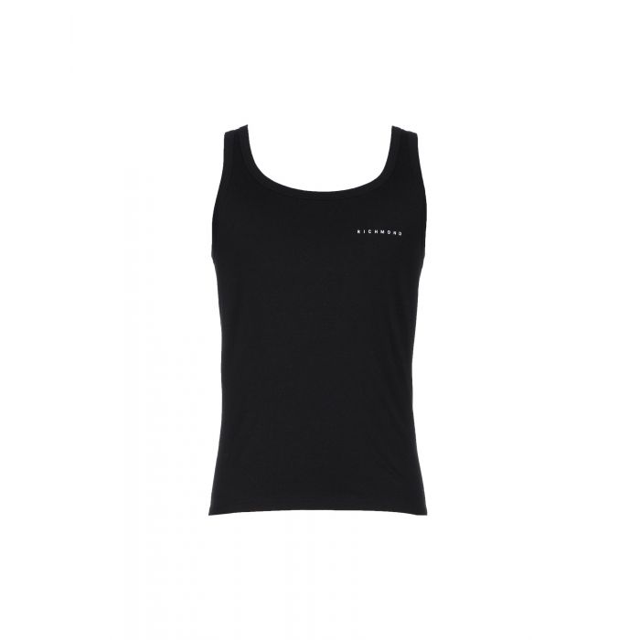 Image for Black cotton tank top