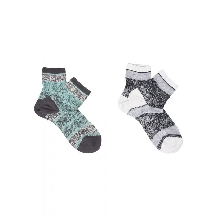 Image for 2pc light grey cotton socks